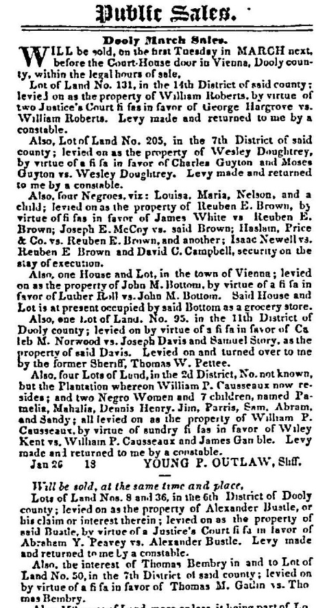 Macon Weekly Telegraph, February 13, 1844