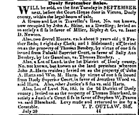 Macon Weekly Telegraph September 5, 1843