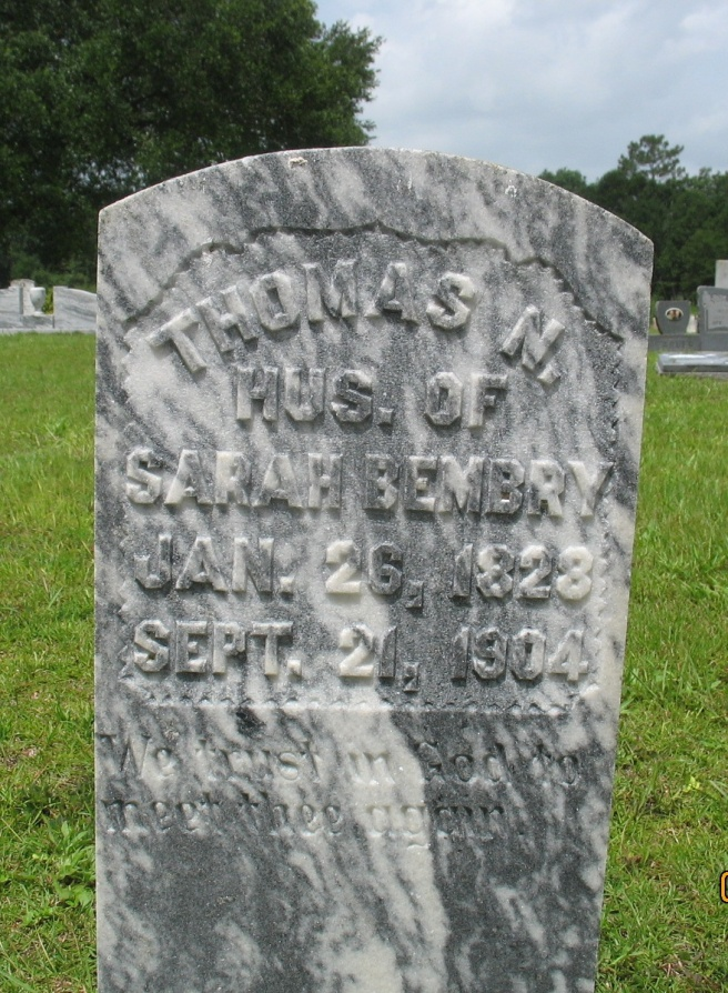 Thomas N Bembry Tombstone (2)